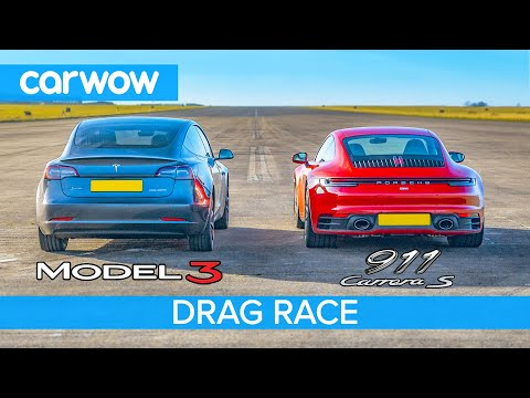 Tesla Model 3 faces Porsche 911 Carrera S in a gauntlet of intense races and tests