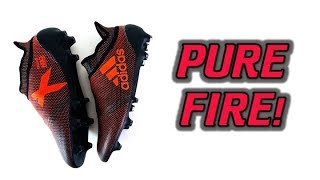 THESE ARE FIRE! (LITERALLY) - Adidas X 17+ PURESPEED (Pyro Storm Pack) - Review + On Feet