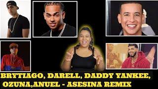 Asesina Remix   Brytiago  Darell  Daddy Yankee  Ozuna  Anuel AA Reaccion