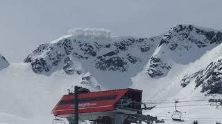 Whistler Glacier bowl avalanche control