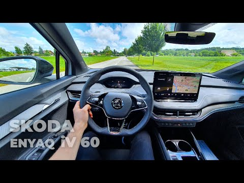 New Skoda Enyaq iV 60 Sportline 2021 Test Drive Review POV