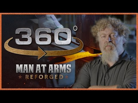 Tour of Man At Arms: Reforged Shop In 360 - The Forging Room!