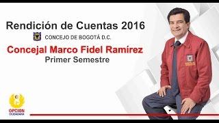 RENDICIÓN DE CUENTAS 1er Semestre 2016 Concejal de la Familia