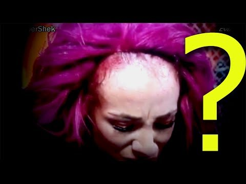 wwe sasha banks fake hairs pictures and video proof