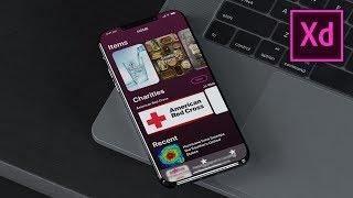 How To Design An IPhone X App (iOS) - Adobe Xd Design Tutorial