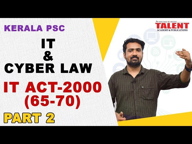 IT & Cyber Law for University Assistant | Important Acts Only Part -2 | Talent Academy