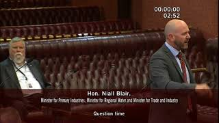 Question - Buckingham To Blair - Northern Basin Review 23 November 2017