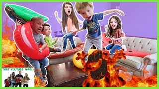 The Floor Is Lava   LAVA MONSTER In Our House  That YouTub3 Family