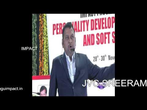 Public Speaking | JVC Sreeram | TELUGU IMPACT Tirupati 2014