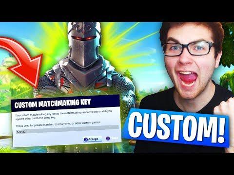 Custom matchmaking key code fortnite