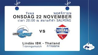 Träningsmatch: Lindås IBK – Thailand