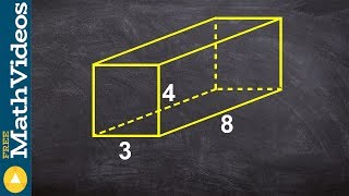 Learning to find the surface area of a rectangular prism
