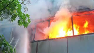 Ликвидация пожара в пгт. Молодёжное Симферопольского района