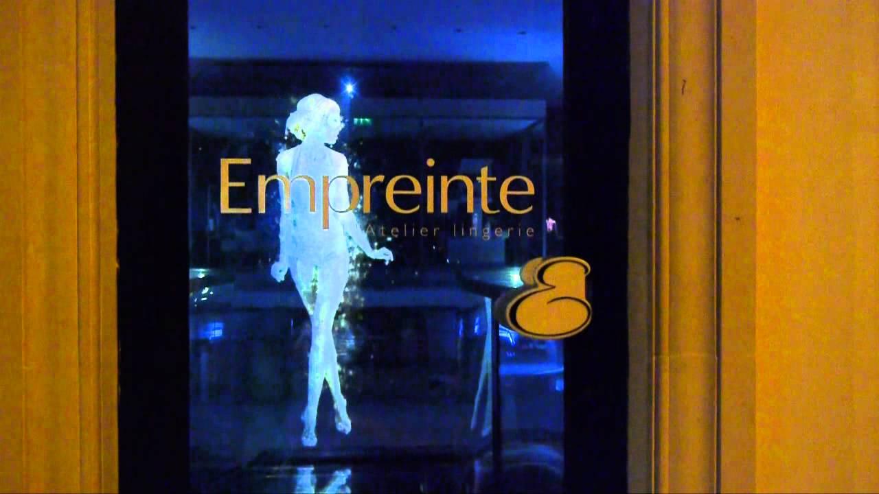 Watch A Lingerie-Wearing Hologram Model Strut Half-Naked
