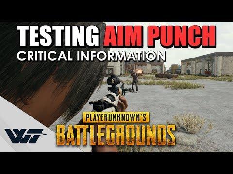 Aim Punch = 被子彈射到身體會震動 測試到底怎麼運作的