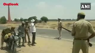 Police In Badaun District Of Uttar Pradesh Point Gun At People During Regular Vehicle Checking