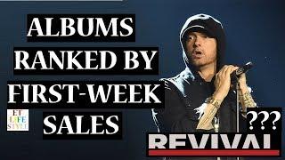 Eminem's Albums Ranked by First Week Sales