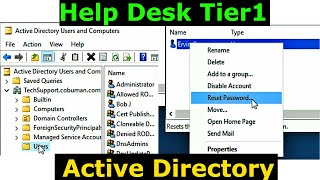 Help Desk Tier1 Active Directory User Account Unlock and reset password