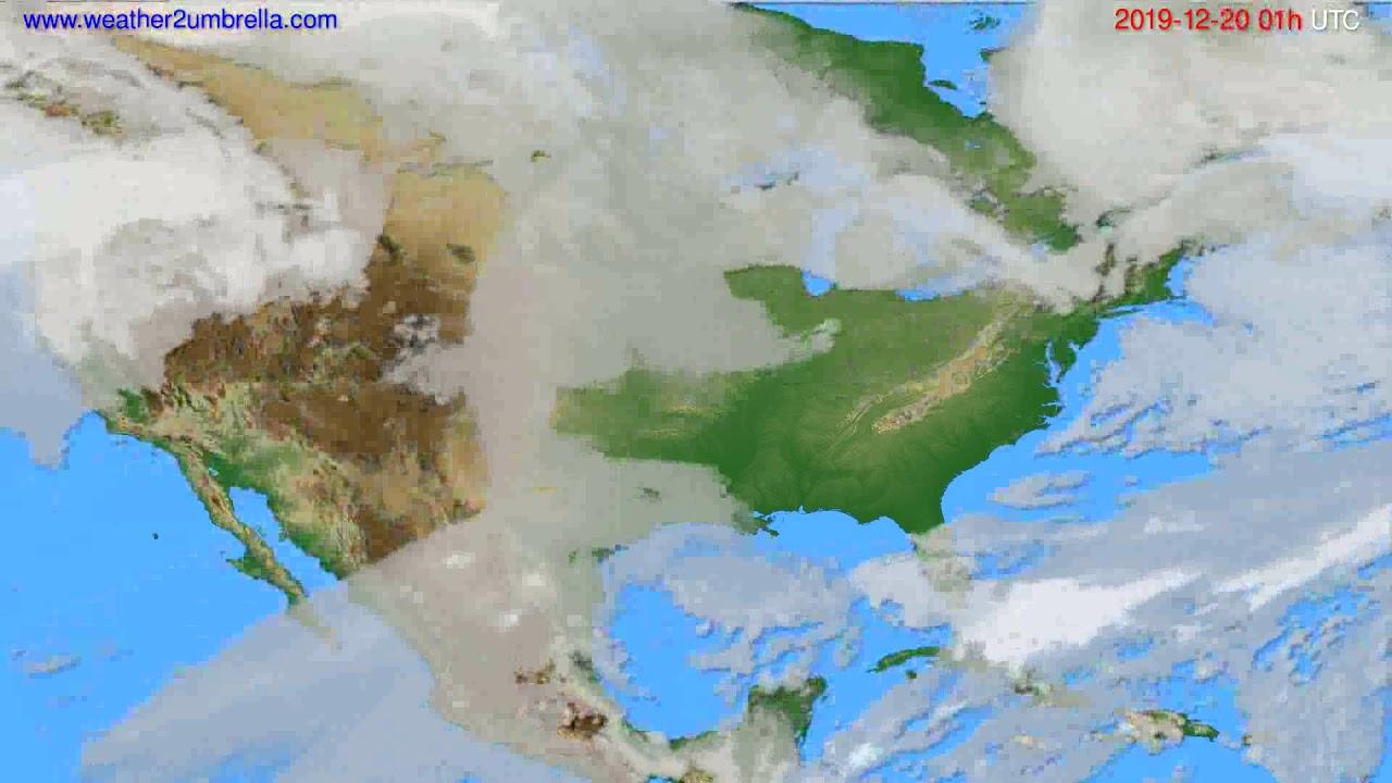 Cloud forecast USA & Canada // modelrun: 12h UTC 2019-12-18