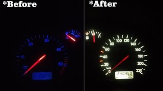 How to change dash LEDs on Golf MK4