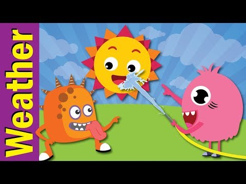 Weather Song for Kids | Sunny, Cloudy, Rainy, Snowy