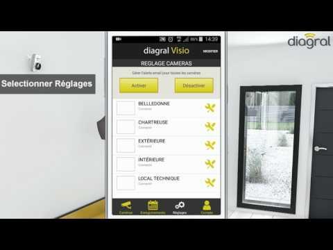 Paramétrer l'envoi des e-mails depuis l'application Diagral Visio