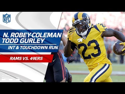 Robey-Coleman's Leaping INT Sets Up Gurley's TD Blast! | Rams vs. 49ers | NFL Wk 3 Highlights