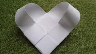 Сердечки валентинки  Как сделать сердечки из бумаги своими руками