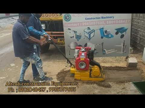 Mild Steel Vibratory Plate Compactor Greaves Engine