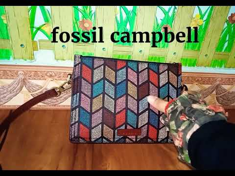 What's in my fossil campbell bag [ review  ]