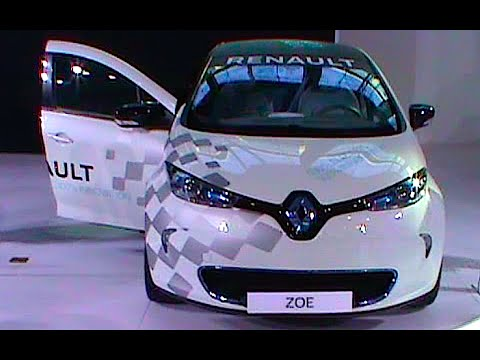Supermini sized electric car Renault Zoe 2016, 2017