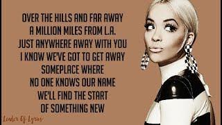 Rita Ora   ANYWHERE (Lyrics)