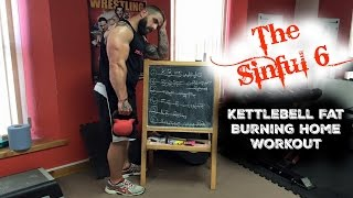 'The Sinful 6' Fat Destroying Home Kettlebell Workout... by TheZeusFitness