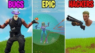 INVISIBLE BODY GLITCH! BUGS vs EPIC vs HACKERS - Fortnite Funny Moments (Battle Royale)