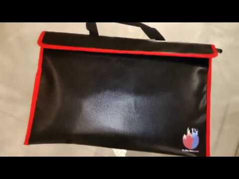 Fireproof Document Bag-Safe for Money TESTING & UTILITY
