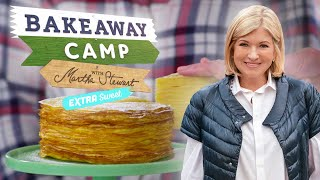 Martha Stewart Shares Layer Cake Tips And Tricks | Bakeaway Camp: Extra Sweet