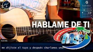 """Cómo tocar """"Háblame de Ti"""" de Banda MS en Guitarra (HD) Acordes - Christianvib"""