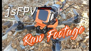 FPV freestyle practice RAW footage(Loud Sound)