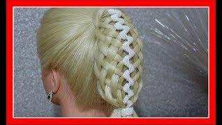 RIBBON BASKET PONYTAIL HAIRSTYLE / HairGlamour Styles /  Braids Hair Tutorial