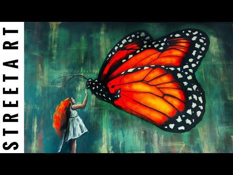 street art huge 3d butterfly by badush lifestyle
