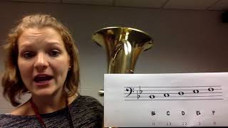 Baritone First 5 Notes