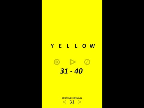Yellow Mobile Game Levels 31-40 (by Bart Bonte)