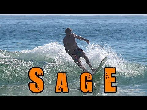 Sage Joske longboards Diggers Beach (23 Dec 2017)