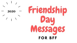 Friendship Day Messages | Friendship Day Quotes | Friendship Day Status | 2020 Friendship Day