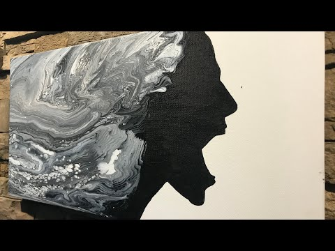 Fluid Painting Acrylic Pouring COMB SWIPE?? Awesome Results!! Must Watch till the End! Please Share!