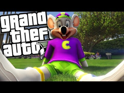 THE CHUCK E CHEESE MOD (GTA 5 PC Mods Gameplay)