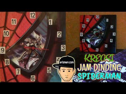 kreasi-jam-dinding-spiderman-handmade