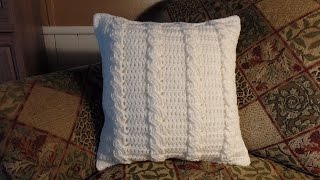 Crochet Cable Stitch Throw Accent Pillow Bagoday Crochet Tutorial #285