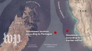 Where was the U.S. drone when Iran shot it down?