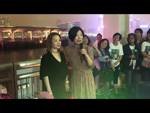 2019.05.13 中環10號碼頭街演 - 神奇女俠來了, 香港旺角小龙女龙婷